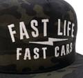 Fast Life Mesh Trucker Hat | Black Camo