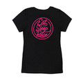 Ladies Neon V-Neck Shirt | Black/Pink