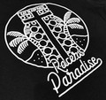 Ladies Racer's Paradise  V-Neck Shirt | Black/White