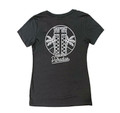 Ladies Racer's Paradise  V-Neck Shirt | Charcoal/White
