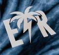 Bolt Palm Emblem T-Shirt | Blue Tie Dye