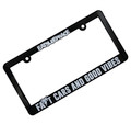 Fast Cars Good Vibes Plate Frame | Black/White