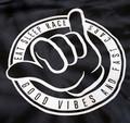 Good Vibes Hoodie | Black Tie Dye