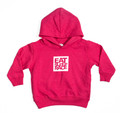 Toddler Logo Square Pull Over Hoodie | Pink/White