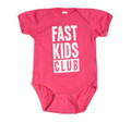 Infant One Piece Fast Kids Club | Magenta/White