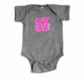 Infant One Piece Logo | Grey/Pink