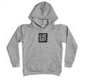 Kids Logo Square Pull Over Hoodie | Grey/Black