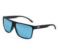 ESR Fastlife Flat Top Sunglasses   Matte Black/Blue (Polarized)   Hard Case