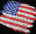 Logo Square T-Shirt   USA Flag