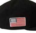 Logo New Era 9FIFTY Snapback Hat | Black/Red Flag
