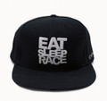 Logo Team Fitted Hat | Black-Silver