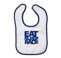 Infant Logo Bib | Blue/White