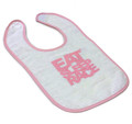 Infant Logo Bib | Pink/White