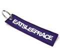 Embroidered Keychain | Purple