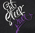 Ladies Script Shirt | Grey/Purple