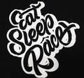 Ladies Retro Script Shirt | Black/White