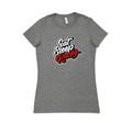 Ladies Retro Script Shirt | Grey/Red