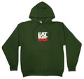 Pull Over Team Logo Hoodie | Military Green/Red