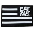 Rubber Velcro Flag Patch | Black/White