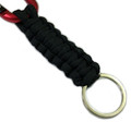 Locking Carabiner Paracord Keychain | Red