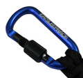 Locking Carabiner Paracord Keychain | Blue