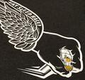 Skull Wing T-Shirt   Charcoal