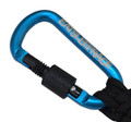 Locking Carabiner Paracord Keychain | Teal