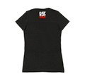 Ladies Fast Life Script Shirt | Charcoal/Red