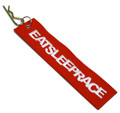 Embroidered Parachute Tag   Red
