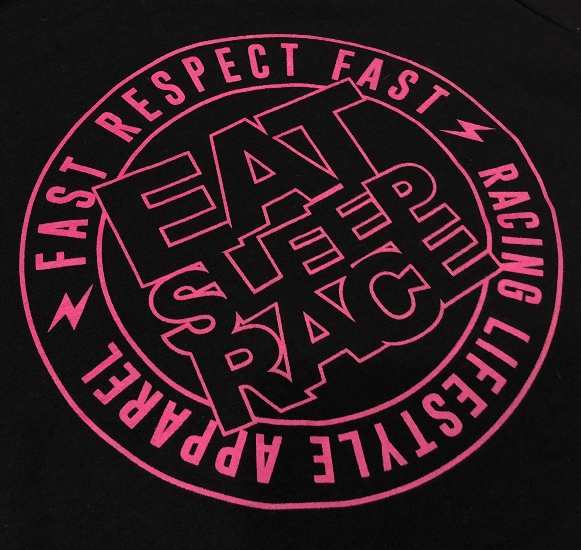 Logo Black Pink Ladies Pull Over Hoodie Logo Square Black Pink Eat