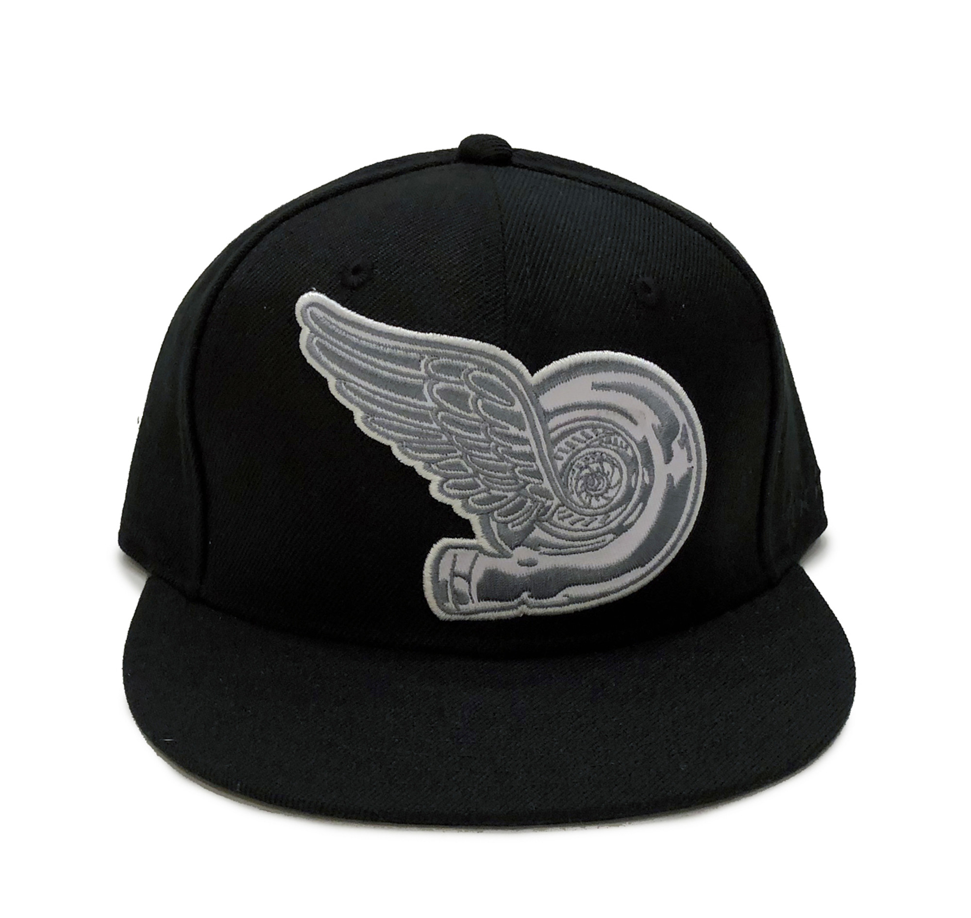 e105a02a1d0c5e Turbo Wing Fitted Hat | Black-Silver - Eat Sleep Race - Racing Lifestyle  Apparel