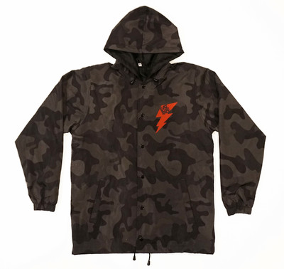 Bolt Windbreaker Jacket | Black Camo