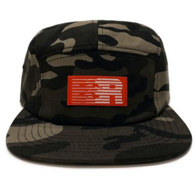 ESR 5-Panel Hat   Black Camo
