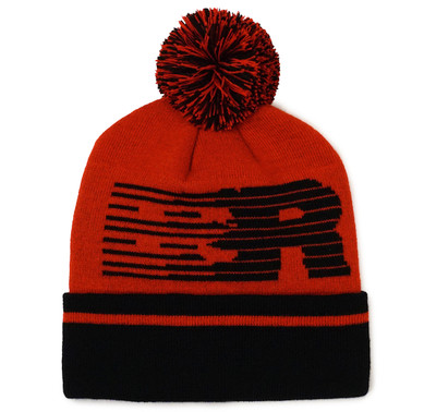 Speedlines Pom Beanie | Red/Black