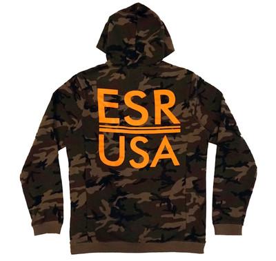 Pull Over Hoodie ESR USA |  Camo/Orange