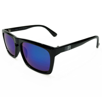ESR Speed Line Flat Top Sunglasses | Gloss Black/Blue Iridium (UV400) | Pouch