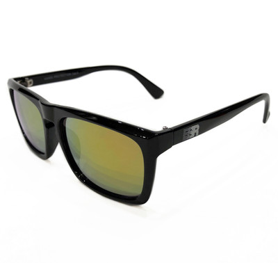 ESR Speed Line Flat Top Sunglasses | Gloss Black/Gold Iridium (UV400) | Pouch