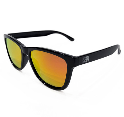 ESR Speed Line Sunglasses | Gloss Black/Red Iridium (Polarized) | Hard Case