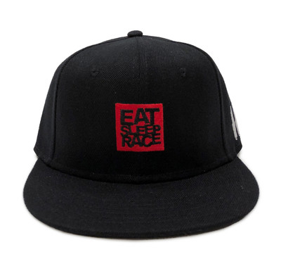 Logo Square Snapback Hat | Black/Red