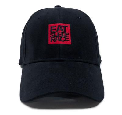 Logo Square Flexfit Hat | Black/Red
