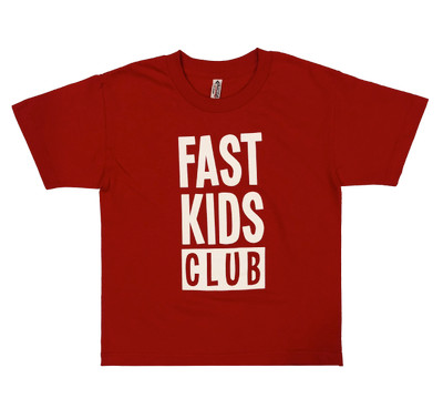 Fast Kids Club Logo T-Shirt | Red