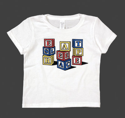 Kids Blocks T-Shirt | White