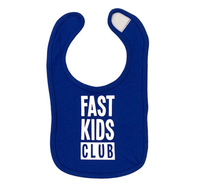 Infant Fast Kids Club Bib | Blue/White