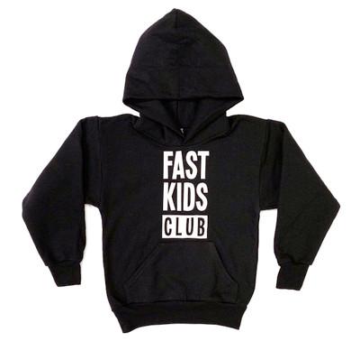 Kids Fast Kids Club Pull Over Hoodie | Black