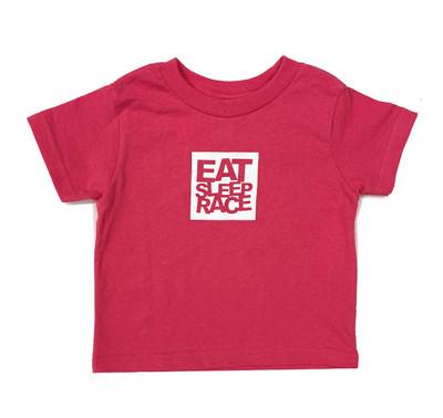 Kids Logo Square T-Shirt | Berry