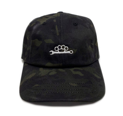 Knuckle Wrench Sport Strapback Hat | Black Multicam