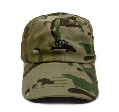 Knuckle Wrench Sport Strapback Hat | Green Multicam