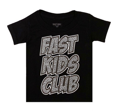 Fast Kids Club Comics T-Shirt | Black/Cement
