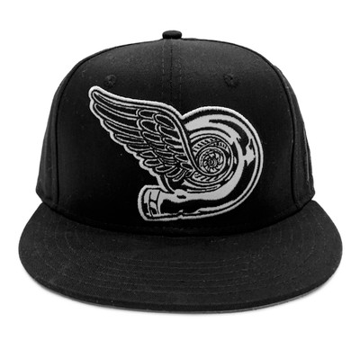 Turbo Wing Snapback Hat | Black