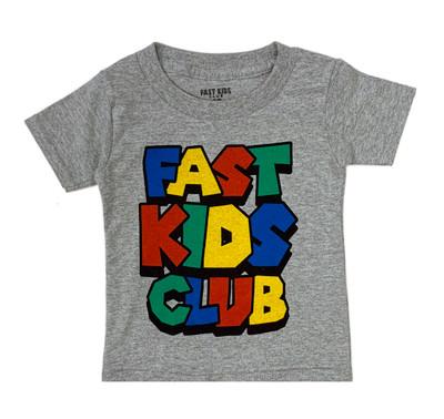 Fast Kids Club Super T-Shirt | Grey